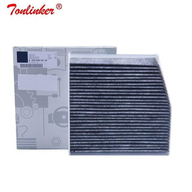 Kabin filtresi A2468300218 Mercedes B sınıfı W246, w242 2011 2019 B160 B180 B200 B220 B250 modeli 1 adet dahili karbon filtre