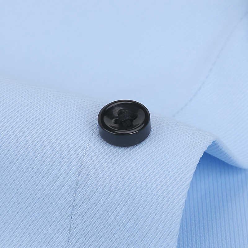 Männer Hemd Twill Kurzarm Sommer 2020 Kleid Formale Hemd Textur Casual Slim Fit Tasche Schwarz Social Business Dropshipping