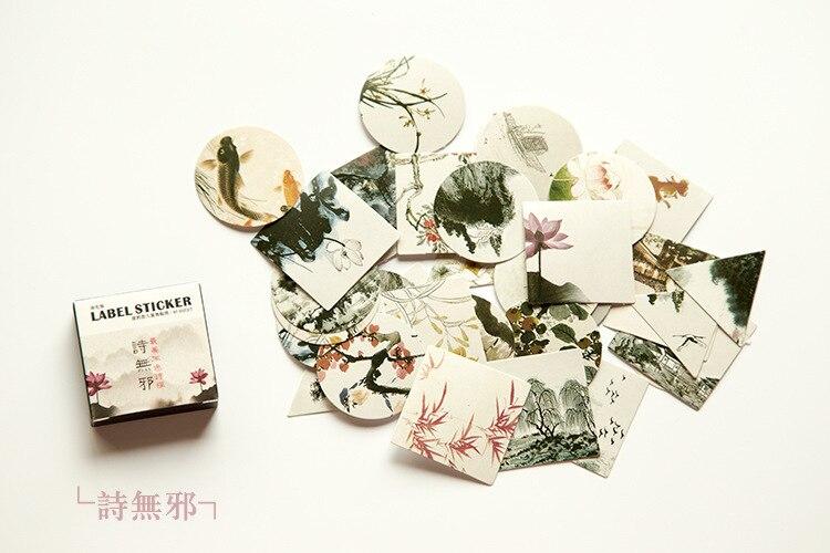 40 шт./упак. милые цветы шаблон Decoracion дневник рождественские Стикеры s Скрапбукинг стикер для канцелярских товаров принадлежности для студентов - Цвет: 16