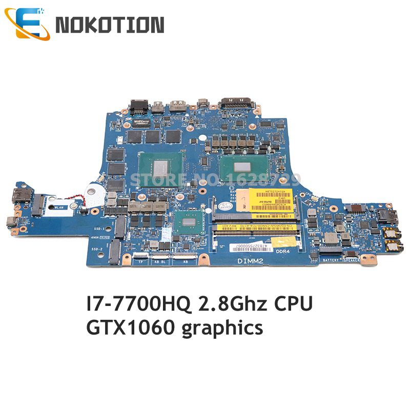 NOKOTION For Dell Alienware 13 R3 Laptop Motherboard 13.3 inch I7-7700HQ CPU GTX1060 CN-0GG6GW 0GG6GW GG6GW BAP00 LA-D581P image