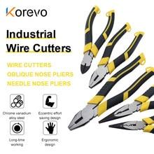 Multifunction Pliers Set Combination Pliers Stripper Crimper Cutter Heavy Duty Wire Pliers Diagonal Pliers Hand Tools