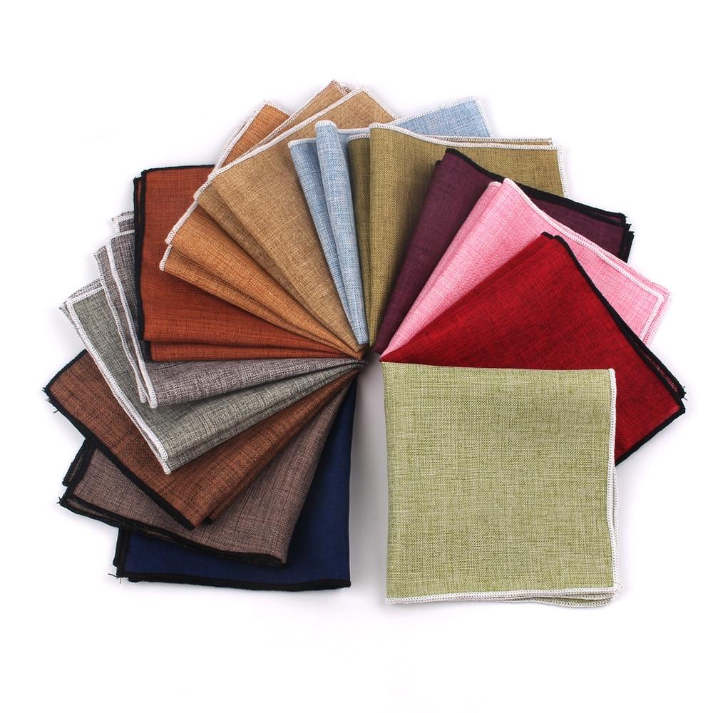 Fashion Solid Suits Pocket Square For Men Women Chest Towel Hanky Gentlemen Hankies Men's Suit Handkerchief Cartoon Pocket Towel