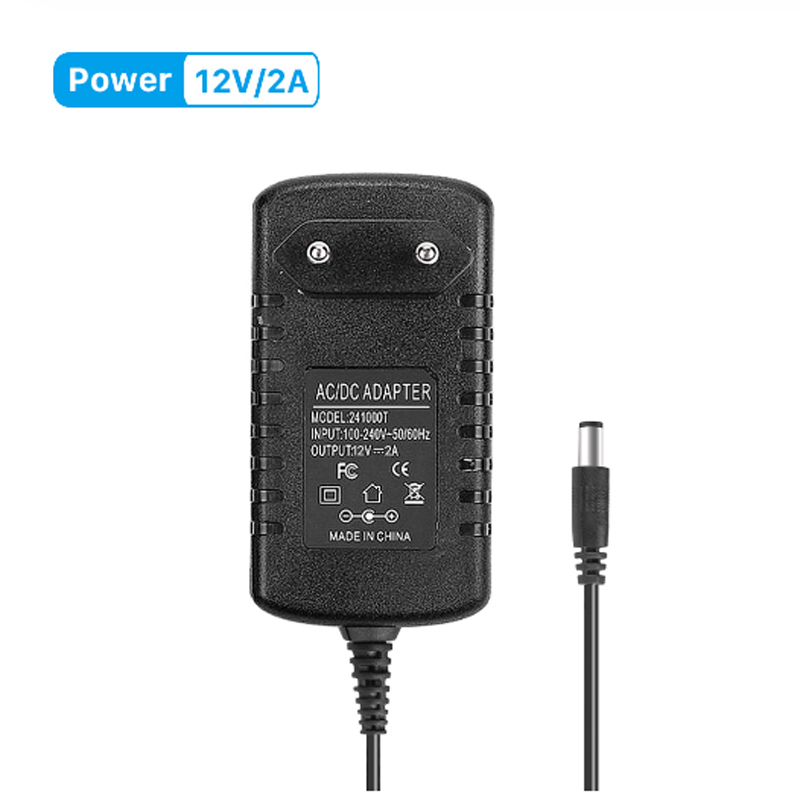 DC 12V 2A Power Supply DC12V Adapter 2A Transformer AC 110V 220V 240V To DC 12 Volts Converter For CCTV Camera US/EU Plug