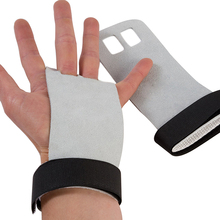 1 Pair Hand Grip Palm Protectors Weight Lifting Synthetic Leather Fitne