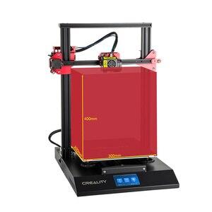 Image 4 - 3D принтер CREALITY, Модернизированный комплект самонивелирующихся 3D принтеров для самостоятельной сборки, 300*300*400 мм, большой размер печати, ЖК экран