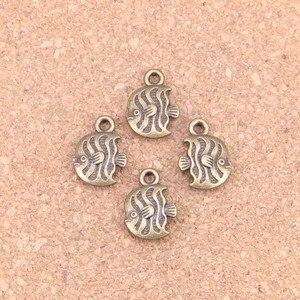 20шт Подвески тропическая рыба 15х11 мм старинные подвески, винтажные бронзовые украшения, сделай сам для браслета и ожерелья