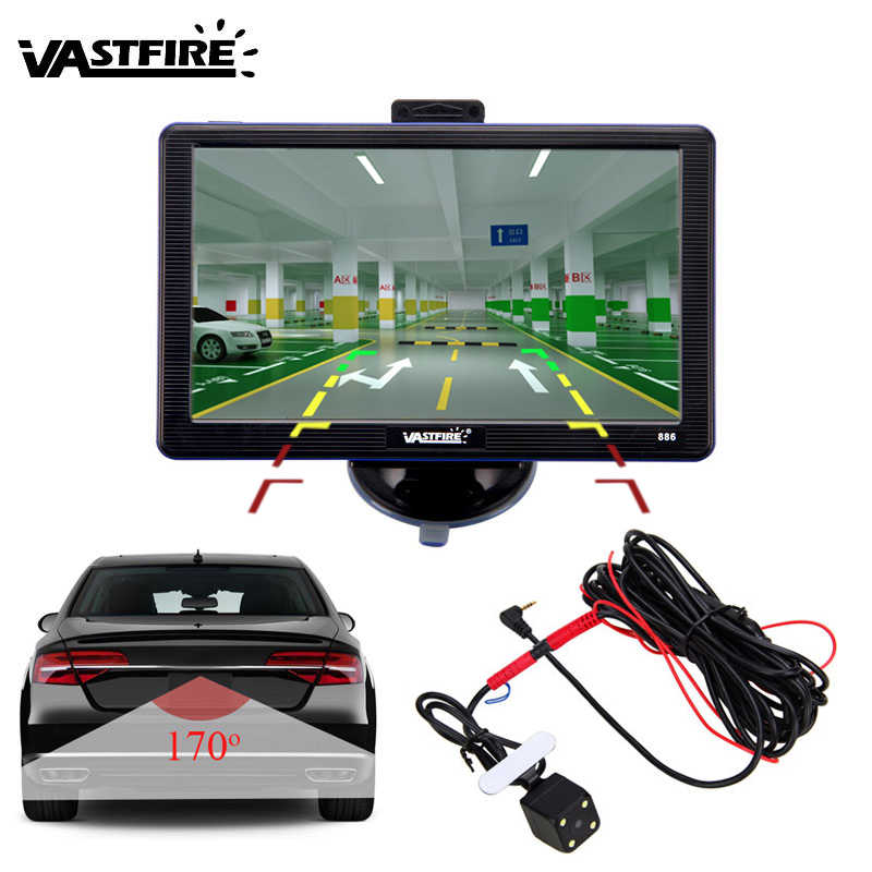 "7 inch Car GPS Navigation SatNav 256M/8G 7"" Sat Nav Navigator With Rearview Camera Bluetooth AV-IN FM MP3/MP4 Players Free Maps"