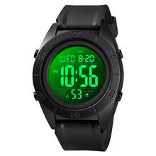 SKMEI Chronos Men Watches Waterproof Luminous Male Sport Watch Popular Mens Watches Army Wrist Watches reloj hombre deportivo cheap Plastic 27cm 5Bar Digital Buckle ROUND 24mm 14mm Resin Shock Resistant LED display Auto Date Chronograph Water Resistant
