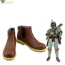 New Star Wars Boba Fett Cosplay Shoes Custom Made Boots printio star wars boba fett