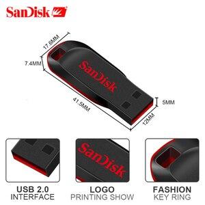 Image 4 - Echte SanDisk Cruzer Fit CZ50 USB Stick 128GB 64GB 32GB USB 2,0 pen drive memory stick mini Stift Sticks 16GB 8GB U disk