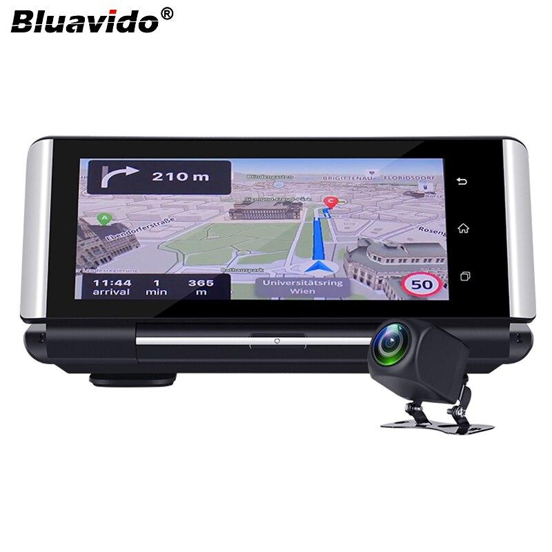 Bluavido 7 Cal 4G kamera na deskę rozdzielczą FHD 1080P z systemem android DVR nawigacja GPS ADAS samochodów kamera wideo rejestrator obsługuje wifi pilot aplikacji monitor