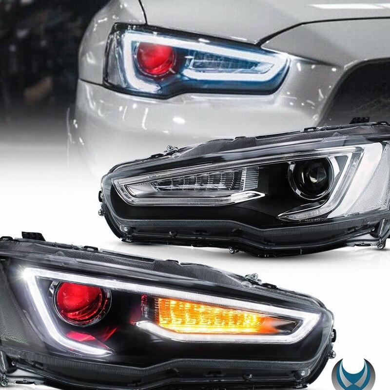 Vland Factory  Head Lamp For Mitsubishi Lancer Headlight 2008-2017 Led Headlights With Demon Eyes