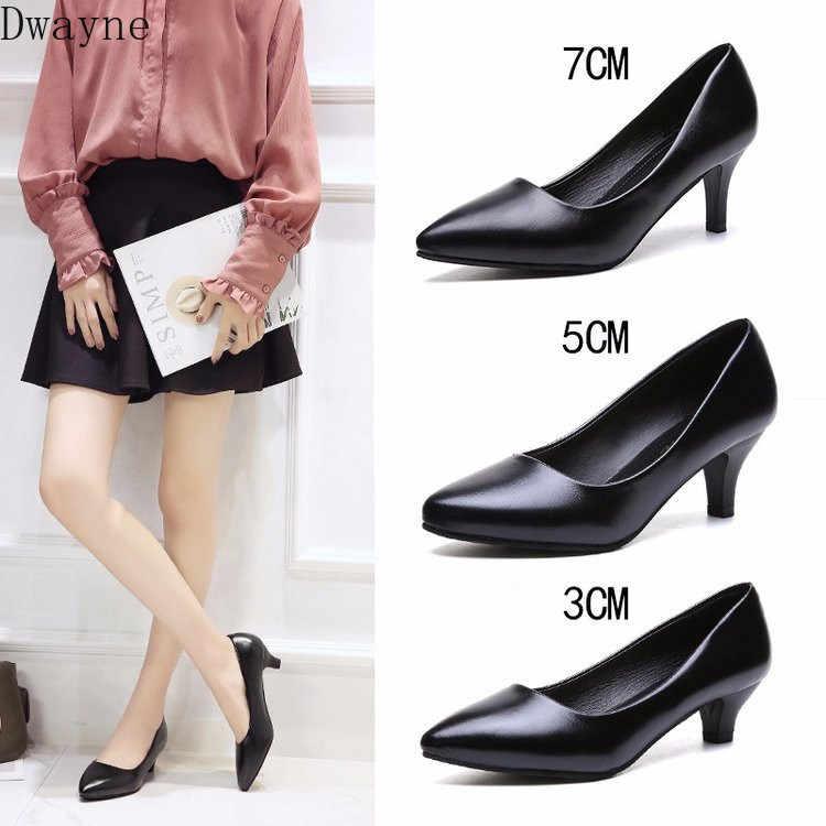 Dressing มารยาทชี้รองเท้าทำงาน Elegant นักเรียน Workplace OL รองเท้าส้นสูง Comfort รองเท้าหนังนุ่มรองเท้าสำนักงานรองเท้าสตรี