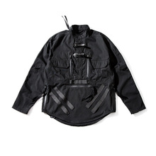 Tactical Shirt Techwear Punk Black Fashion TRAVEL PUPIL FOG-S05 Rip-Stop Hip-Hop-Style