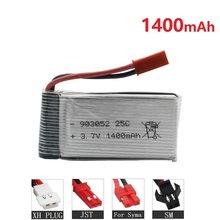 1400mah 3.7V Bateria Lipo Para X5 X5S X5C X5SC X5HC X5SH X5SW M18 H5P H11D H11C T64 T04 T05 F28 F29 T56 T57 HQ898B HQ859B 903052