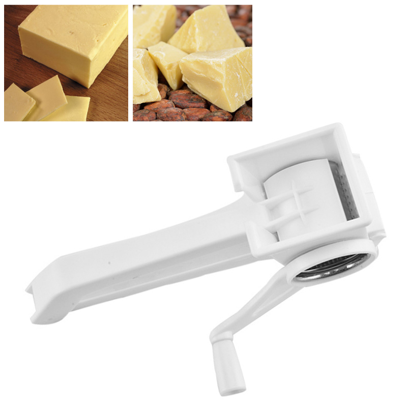 <font><b>Cheese</b></font> <font><b>Grater</b></font> Multifunctional Kitchen Tools Ginger Slicer 1Pc Stainless Steel Drum Hand-Cranked <font><b>Rotary</b></font> Manual Chocolate Cutter image