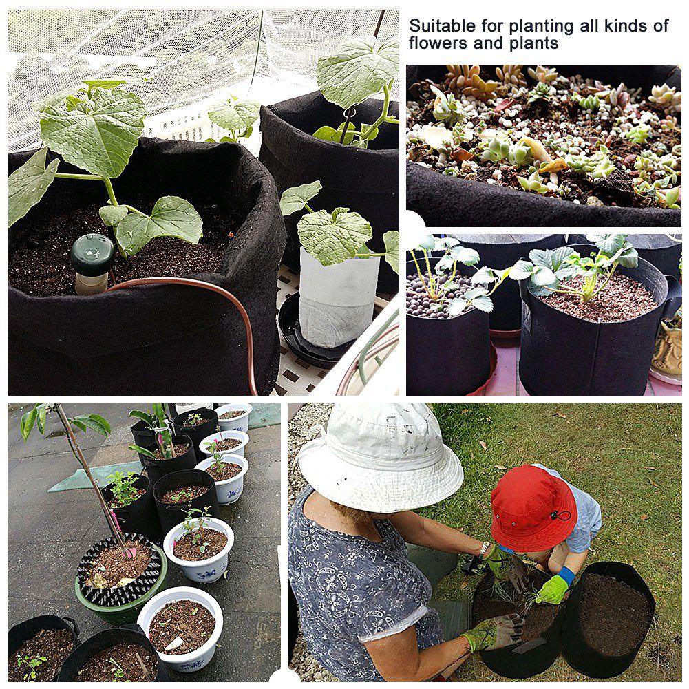 10 галлон большой растение цветок выращивание мешки горшок дом сад инструменты картофель клубника ткань овощи сад садоводство выращивание горшки