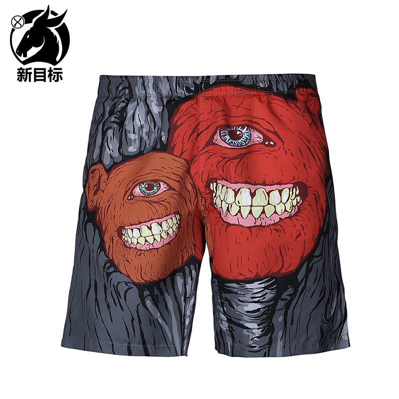 Foreign Trade Hot Selling 2019 Summer Wear New Style Swimming Trunks Cartoon One-Eyed Beast 3D Printed Beach Shorts Popular Bran