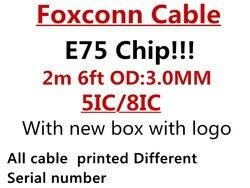 10 pçs/lote original 2m/6ft e75 chip 5ic/8ic usb cabo carregador de dados para o telefone 5S 6s 7plus 8 x com nova caixa