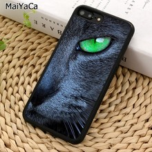 MaiYaCa Green Eyed Cat Phone Case For iPhone X XR XS 11 Pro MAX 5 6 7 8 Plus Samsung Galaxy S5 S6 S7 S8 S9 S10(China)