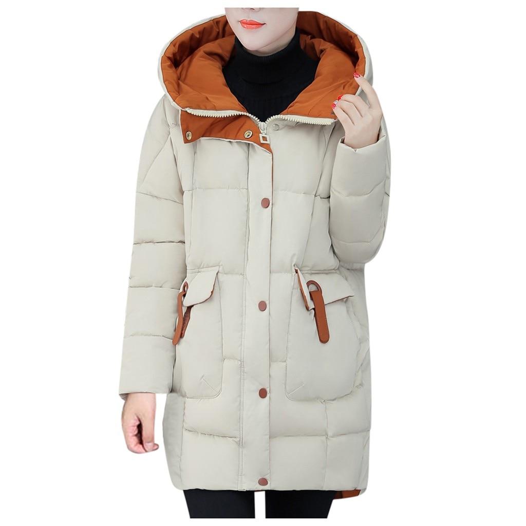 New   Down     Coats   Fashion Women Winter Warm Cotton Hooded Winter Long-Sleeved Overcoat Clothing   Coats   & Jackets Drop Shipping