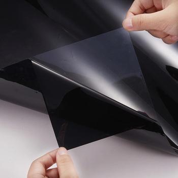 50cm x 30 0cm ciemny czarny folia na okna samochodu szkło lato samochód Auto okna domowe szkło barwienia ochrona przeciwsłoneczna akcesoria samochodowe tanie i dobre opinie HAIMAITONG 80 -100 CN (pochodzenie) 20 -40 Boczna szyba Ochrona przeciwsłoneczna na przednią szybę 300cm 0 152kg Sun Block Effect