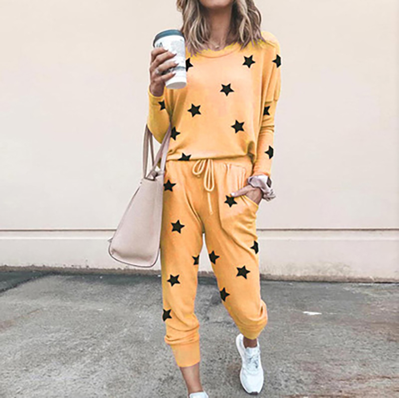 Casual Tracksuit Women Two Piece Set Top And Pants Spring Autumn Clothes Pockets Sport Solid Oversized Women Set 2Piece Outfits