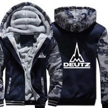 Deutz Fahr Tractor Hoodies Camouflage sleeve Jacket Hoody Zipper Winter Fleece Deutz Fahr Tractor Sweatshirt