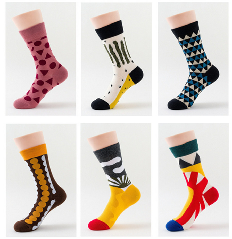 Sports Trend Socks Individual Basketball Polka Dot Pattern Women's Middle Tube Socks Color Jacquard Cotton Socks