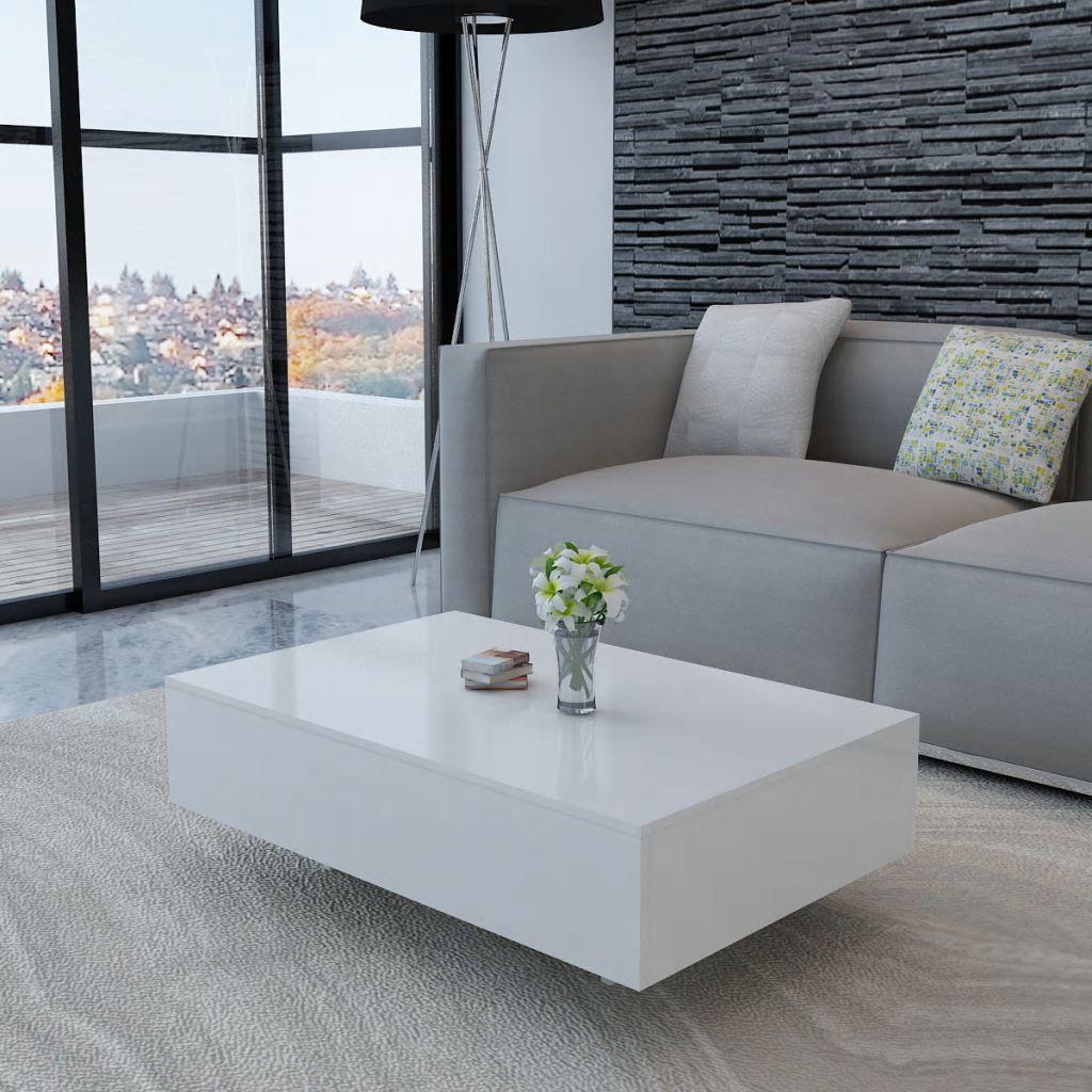 VidaXL Coffee Table High Gloss White
