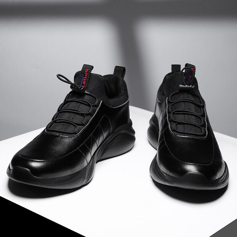 Мужские модные кроссовки Four Seasons больших размеров 48, удобная кожаная повседневная обувь, износостойкая спортивная обувь MD Bottom для бега|Повседневная обувь|   | АлиЭкспресс