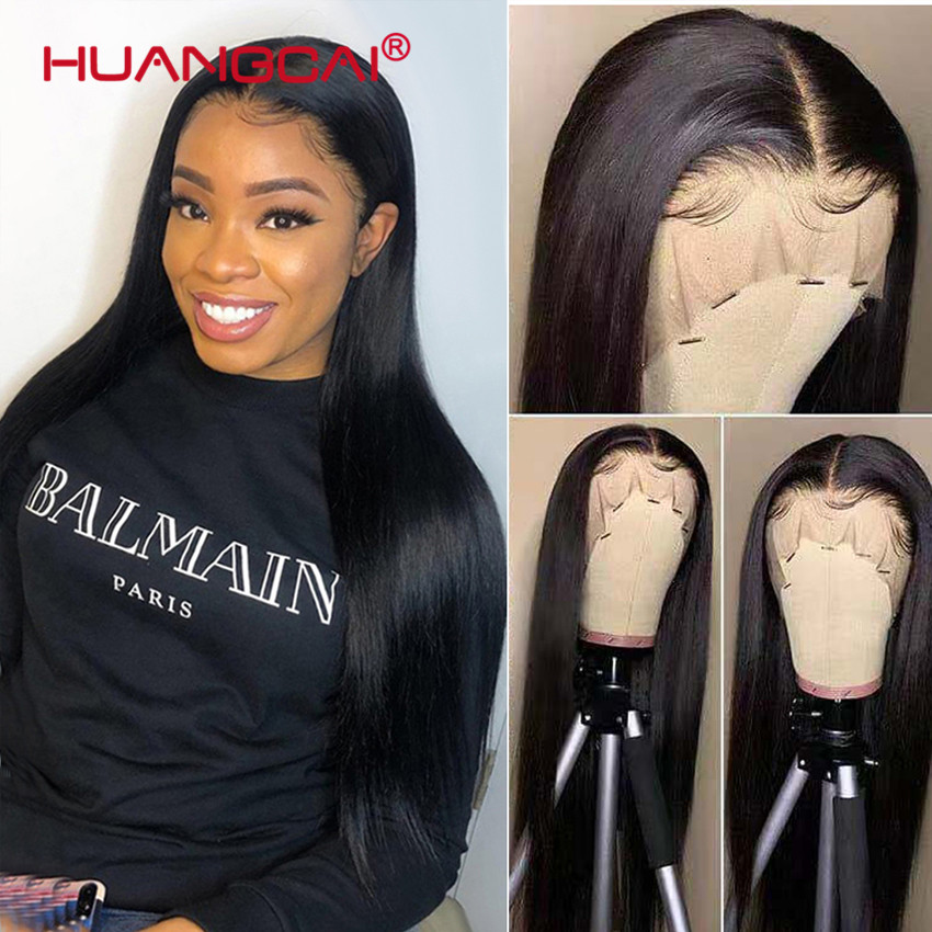 Peruca cabelo humano liso, 28 polegadas liso parte frontal renda 13x4 frontal remy cabelo brasileiro liso pré-peruca de renda com bebê