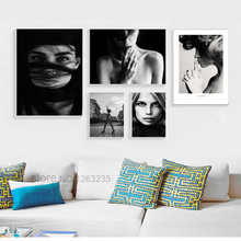 купить Beautiful Female Canvas Art Painting Nordic Poster Living Room Bedroom Corridor Wall Decoration Hanging Picture Frameless в интернет-магазине