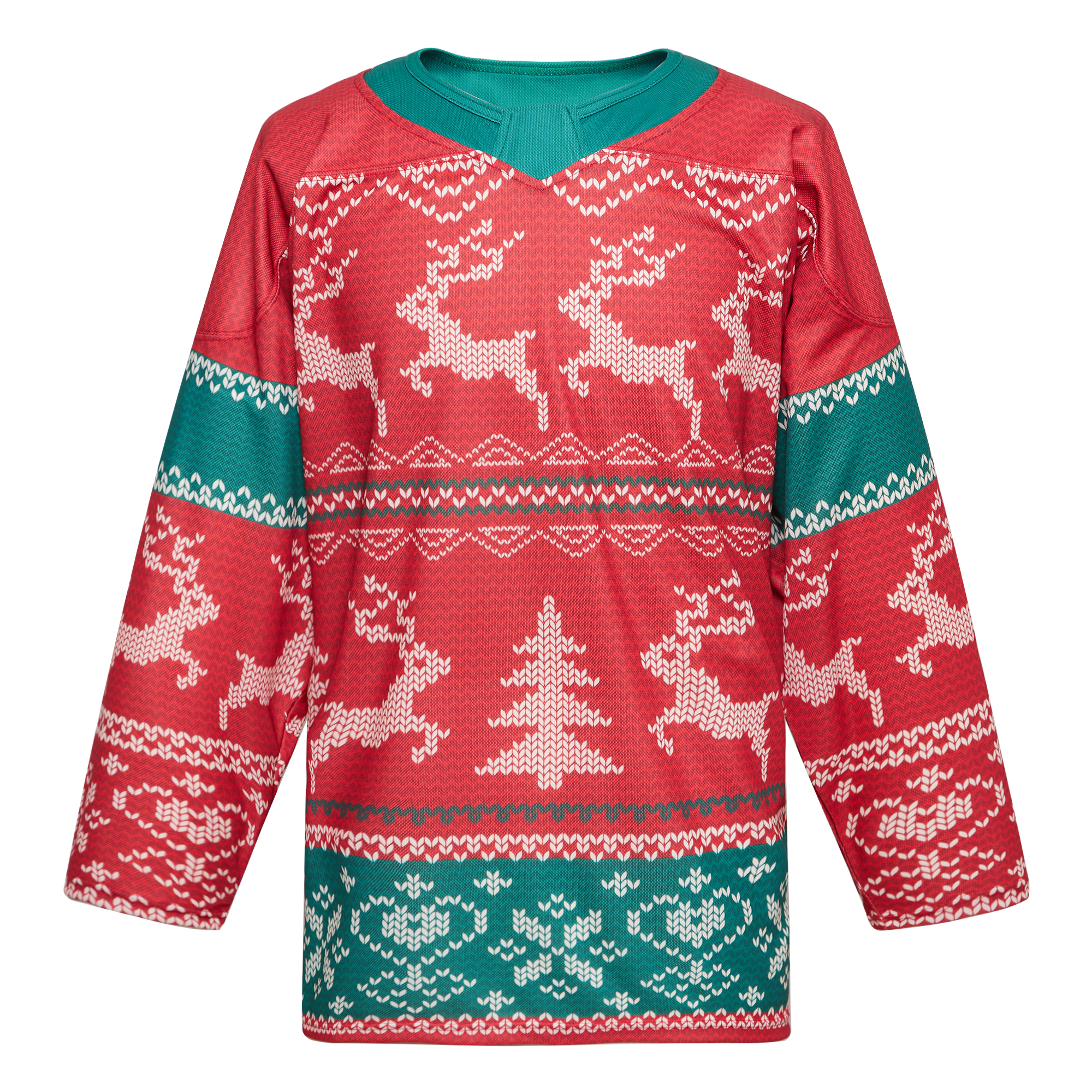 COLDOUTDOOR Sublimation Christmas vintage hockey practice jersey + socks set X-mas Ugly sweater suit