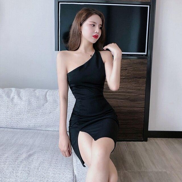 single shoulder night-out dress 5