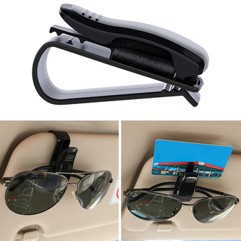 Auto Car Sun Visor Glasses Sunglasses Clip Multi-Function Portable Fastener Card Ticket Glasses Cip Holder Universal Case Box image