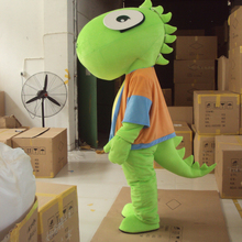 Green Dragon Dinosaur Mascot Costume Fancy Cosplay Mascotte for Adults Gift Halloween Carnival party