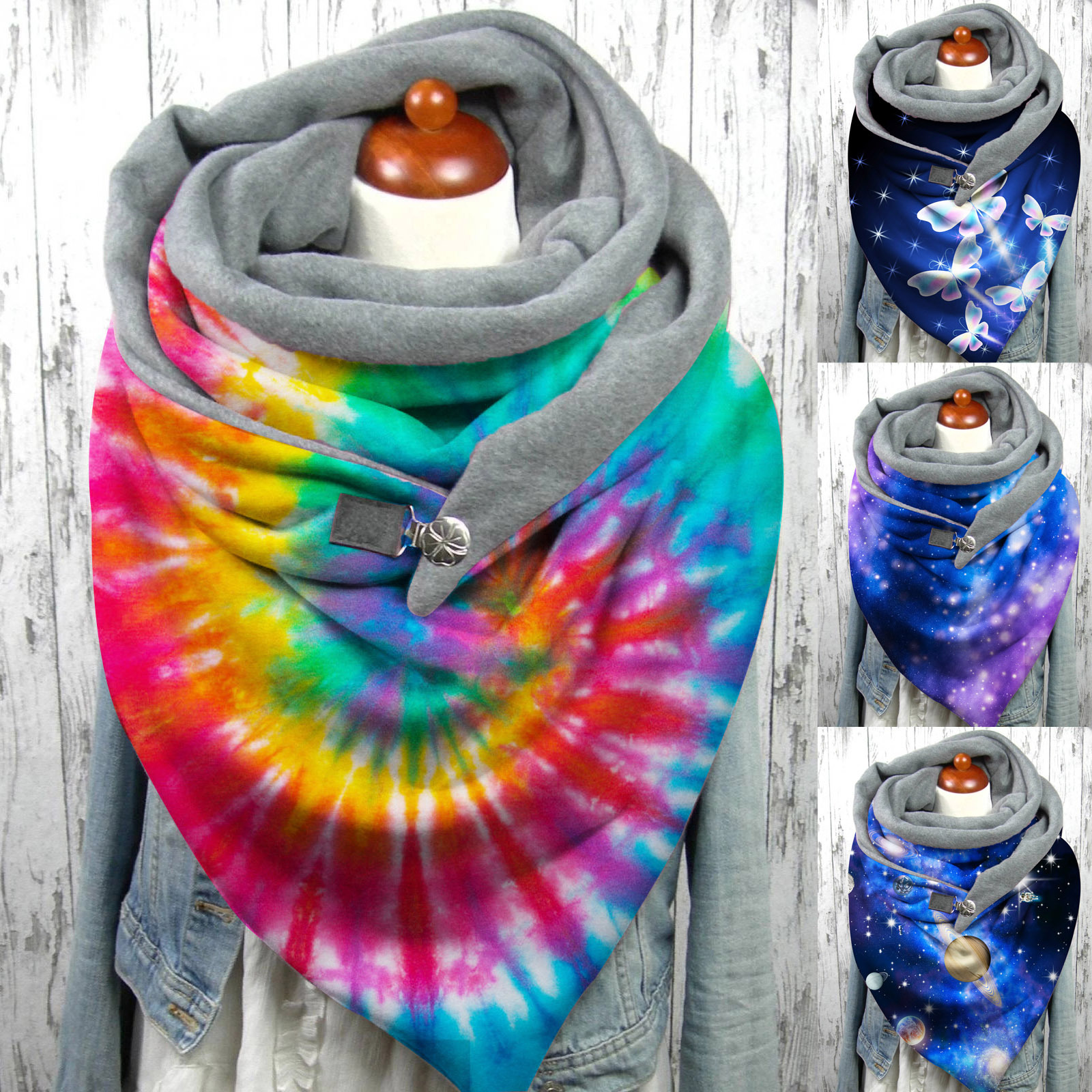 New Women Winter Warm Christmas elk print Scarf Fashion Retro Female Multi-Purpose Shawl Scarf  Outdoor Bandana шарфы женские