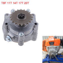 T8F 11, 14 лет 17T 20T зуб заднее сцепление барабан Шестерни коробка звездочки для 33cc 43cc 49cc Ty Rod Go Kart мото байк скутер цепи