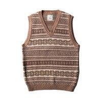 MY 0008 Read Description! Asian size vintage top quality waistcoat Fair Isle genuine 100% wool vest