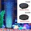 12LED/ 9LED kolorowe akwarium LED lampa świecące w ciemności wodoodporna lampa z efektem bąbelków tlenu na akcesoria do akwarium dekoracji
