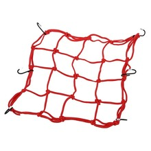 Motorbike Motorcycle Cargo 6 Hooks Hold Down Web Net Bungee Storage Carrier Red mizumi red hold