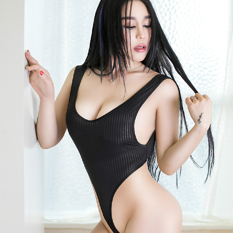 SAROOSY Hot Erotic Sexy Lingerie Striped Bodysuit For Women High Elastic Backless Clubwear Body Suit 2019 Summer New Arrival