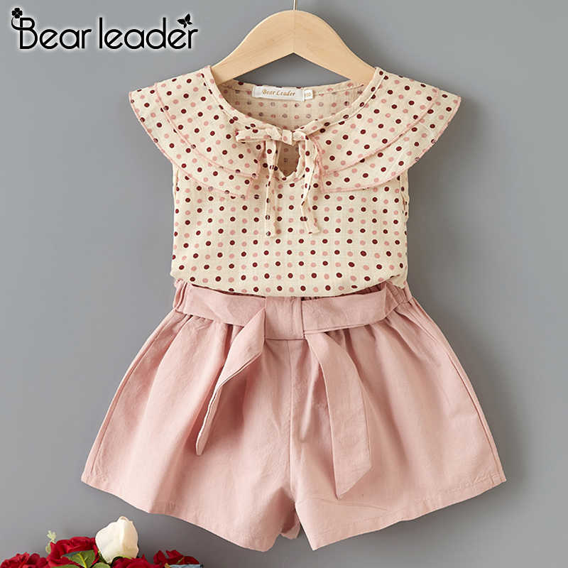 Bear Leader Kids Clothing Sets New Summer Girls Casual Suits Top and Pants 2Pcs Cool Polka Dot Kids Outfits Girl Clothing Sets