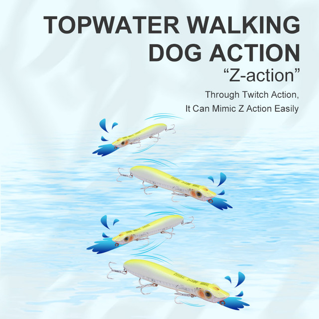 Kingdom Popper fishing lures Floating Wobblers 110mm 12.6g 125mm 17.8g topwater pencil lure fishing Goood action hard baits