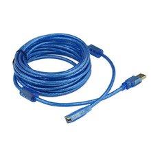 10 метров USB удлинитель Супер Скоростной USB 2,0 кабель папа-папа Синхронизация данных USB 2,0 удлинитель кабель-удлинитель