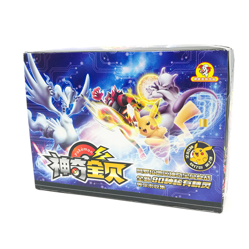 TAKARA TOMY Toys Pokemon Cards Collections Pikachu 168pcs Shining Flash Card 7pcs/box 24box/set Board Game For Kids Gift