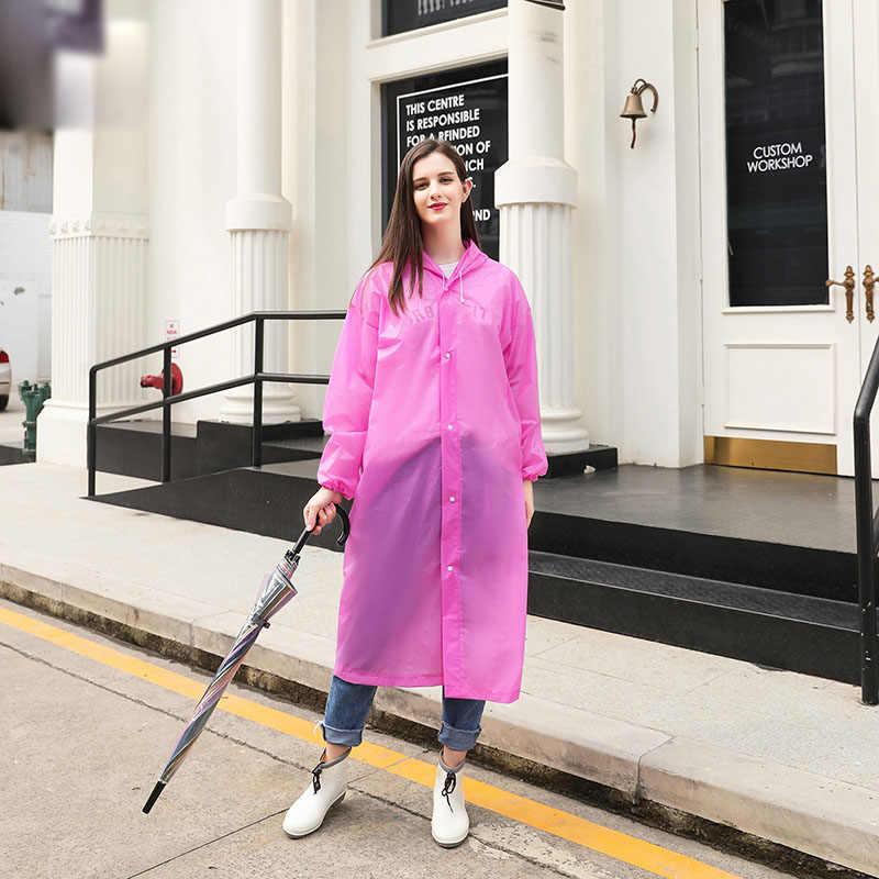 Творчески взрослых непромокаемый плащ EVA Защита окружающей среды прозрачный плащ с капюшон от дождя, верхняя одежда, плащи Водонепроницаемый пончо