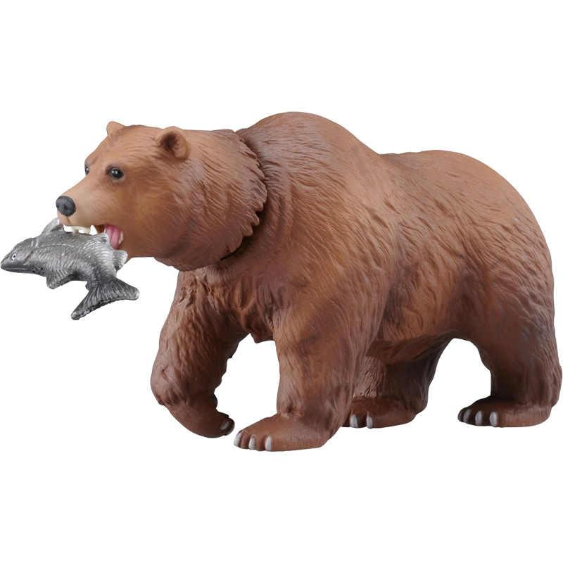 Takara Tomy ANIA Advanture COMO-25 Animal Urso Marrom Selvagem Figura ABS Crianças Brinquedos Educativos
