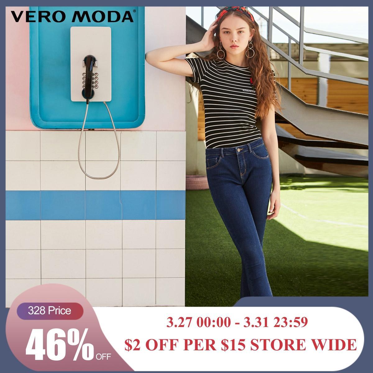 Vero Moda New Arrivals Women's Slim Fit Brushed Villus Lining Crop Jeans | 318349555